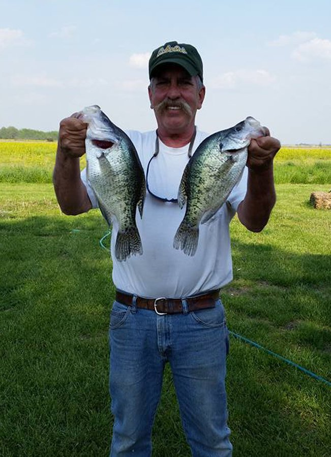 Boneyard Fishing client with giant slab crappies.