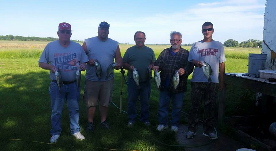 Happy crappie clients at Boneyard Fishing in Franklin County Illinois!!