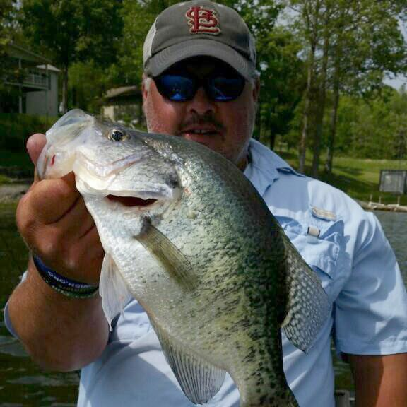 Your top Southern Illinois Guide for Crappie! Jason holds a monster crappie